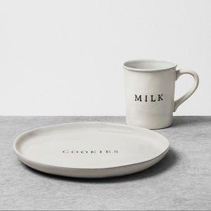 Hearth And Hand Milk and Cookies Mug and Plate Set